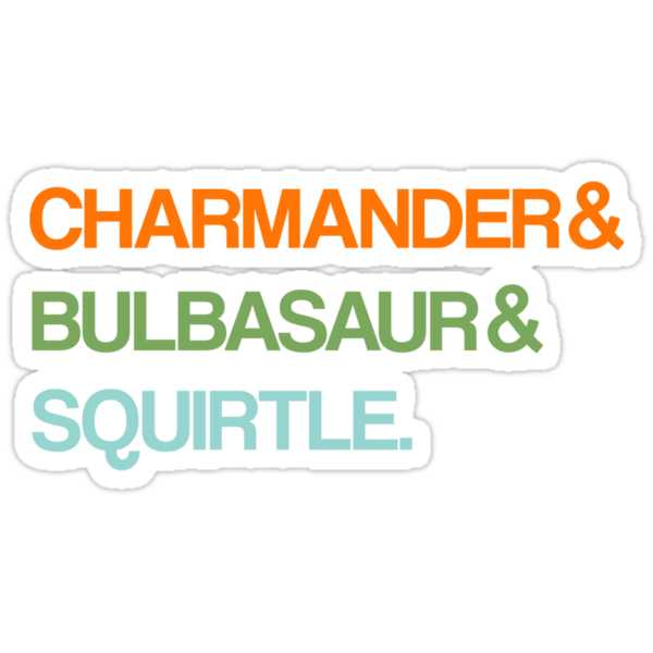 Charmander & Bulbasaur & Squirtle. by ScottW93