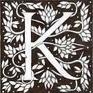 "Art Nouveau ""K"" (William Morris Inspired) by Donnahuntriss"
