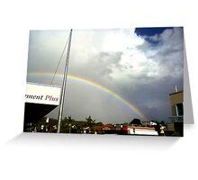 rainbow over suburbia  Greeting Card