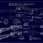 303  Lee Enfield Rifle Blueprint (Dark blue) by NemesisGear