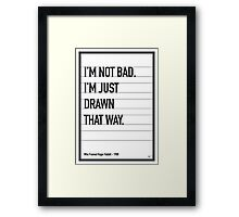 My Who Framed Roger Rabbit Movie Quote poster Framed Print