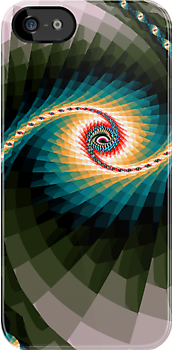 Colour Swirl fractal iPhone case design by Dennis Melling