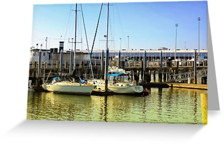*Sailboats on Sunlit Waters* by DeeZ (D L Honeycutt)