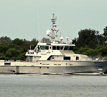 Police Patrol Boat by Stan Owen