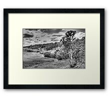 Landscape aStudy in Black & White - Oberon Way, NSW - The HDR Experience Framed Print