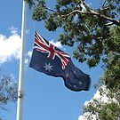 Australian flag in the breeze by LindaSnaps