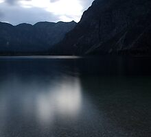 Lake Bohinj at dusk by Ian Middleton