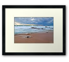 Receeding Waves at Injidup Beach Framed Print
