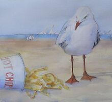 Seagull and Hot Chips by ajnorthover