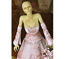 The Zombie Bride Photographic Print