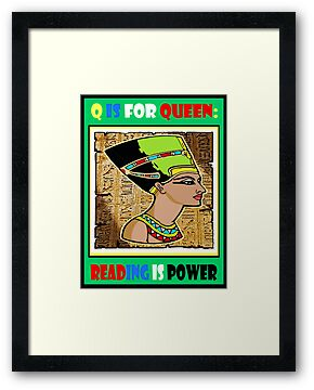 Q IS FOR QUEEN BOOK COVER TEE by S DOT SLAUGHTER