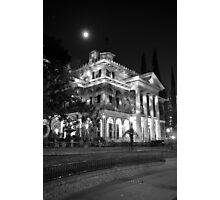 Haunted Mansion - Night Photographic Print