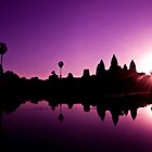 Purple Sunrise at Angkor Wat by Simon Kirwin