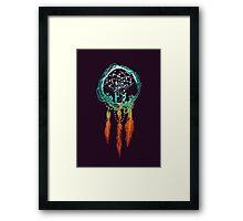 The Dream catcher (rustic magic) Framed Print