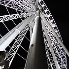 Brisbane wheel close up at night by William Goschnick