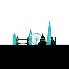 London Landmarks blue by Chris-Cox