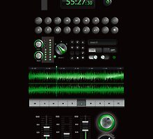 Music Application Interface  iPhone 5 Case / iPhone 4 Case  by CroDesign