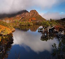 Highland Tarn reflection - Cradle Mountain N.P. by Mark Shean
