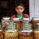 Pickle seller, Kathmandu by John Spies