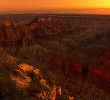 Sunset Over Bright Angel Point - 4 ©  by © Hany G. Jadaa © Prince John Photography