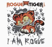 RogueTiger.com - Smirk Logo Gray (light) by roguetiger