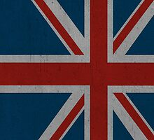 Dark Union Jack iPhone Case by alexandramarieg