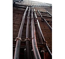 Pipes On A Wall Photographic Print