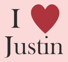 i love justin heart by Tia Knight