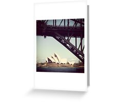 Sydney Icons. Greeting Card