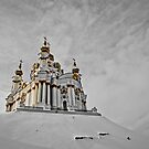 winter in St. Andrew's Church, Kiev, Ukraine by MMinakov
