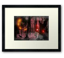 Casting the spell Framed Print