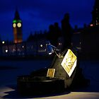 busking late at night next to the big ben by edozollo