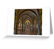 Crypt, Rochester Cathedral, Kent, England Greeting Card