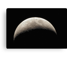 Waxing Crescent - 11 November 2010 Canvas Print