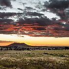 Gowrie Mountain Sunset by Tim Swinson