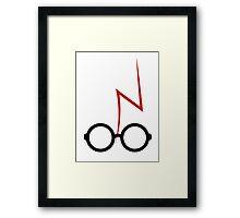 Harry Potter - Glasses and scar Framed Print