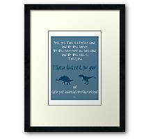 curse your sudden but inevitable betrayal, firefly, blue Framed Print