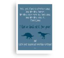curse your sudden but inevitable betrayal, firefly, blue Canvas Print