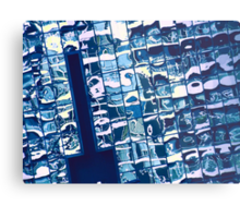 cool blue reflection on mississauga office building Metal Print