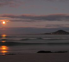 supermoon, redbill beach. eastcoast, tasmania by tim buckley | bodhiimages
