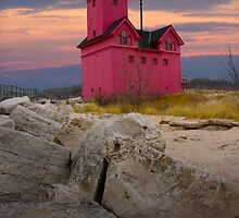 Big Red Lighthouse by Holland Michigan No.0173 by Randall Nyhof