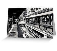 Chicago Black Series--The EL Greeting Card