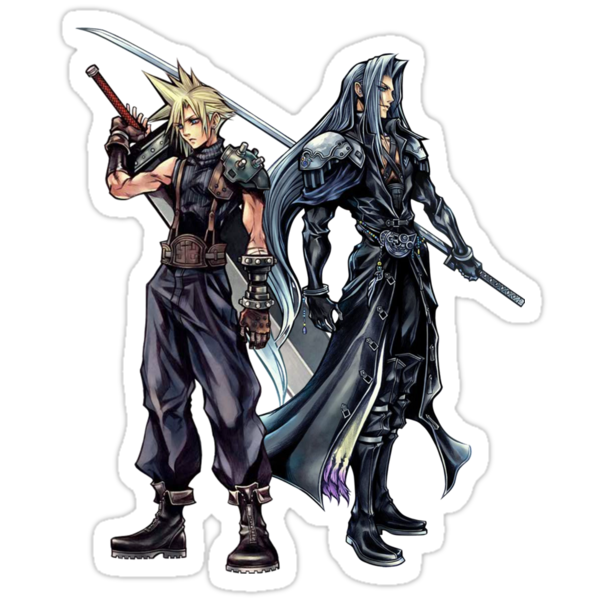 Cloud and sephiroth by Frostwraith