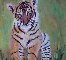 Sumatran Tiger Cub by Margaret Saheed