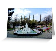 Istanbul: Minarets in the background Greeting Card