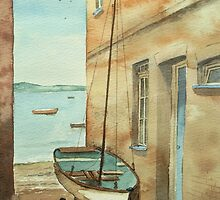 Boat by the House by Lynne  Kirby