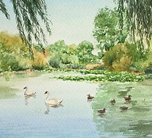 Duck Pond - Pelsall by Lynne  M Kirby BA(Hons)