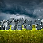 Car Henge in Alliance Nebraska after England's Stonehenge by Randall Nyhof