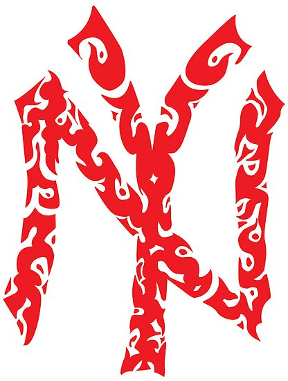 Yankees Tribal Red by lighthousegrphx