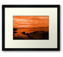 red coastal kerry view Framed Print